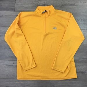 The North Face mustard jacket
